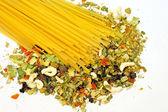 野菜のタリアテッレ — ストック写真