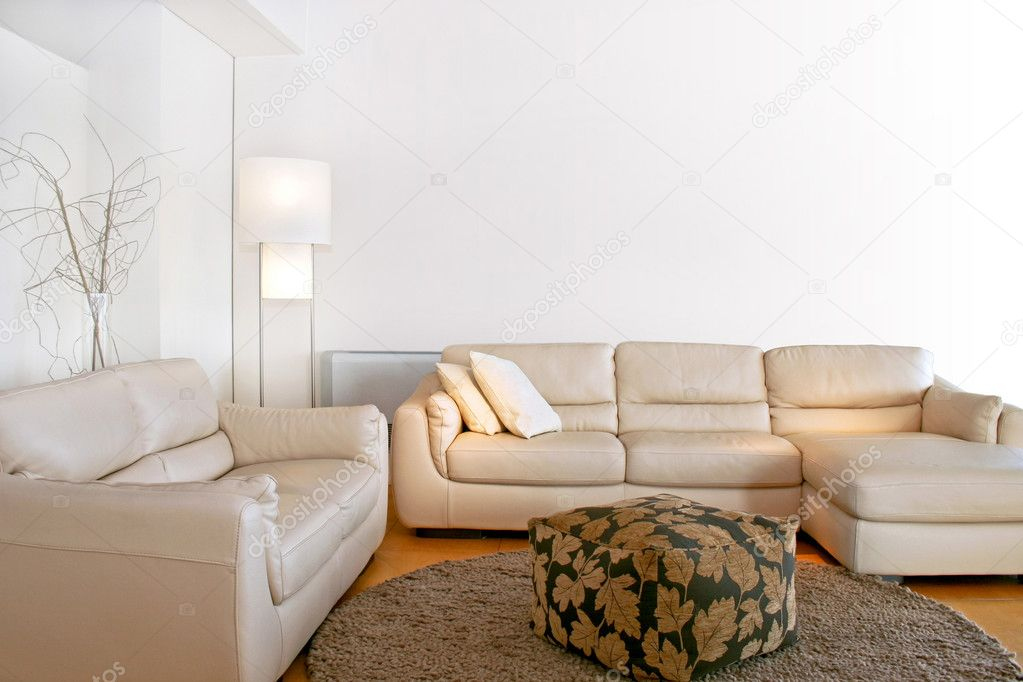 Bright living room with two big sofas  Foto Stock #3171994