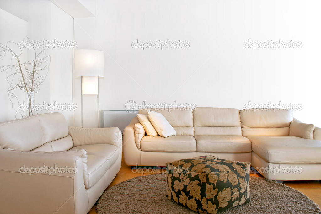 Bright living room with two big sofas — Foto Stock #3171994