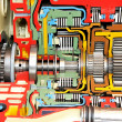 Gearbox color - Stock Photo