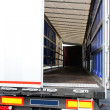Lorry door — Stock Photo