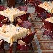 Stock Photo: Restaurant tables
