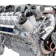 Stock Photo: Trucks engine silver