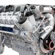 Trucks engine silver — Stock Photo