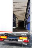 貨物自動車ドア — ストック写真
