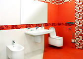 Kırmızı banyo — Stok fotoğraf