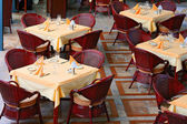 Restaurant tables — Stock Photo