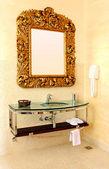 Rustic mirror — Stock Photo