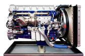 Trucks engine blue — Stock Photo