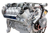 Trucks engine silver — Foto de Stock