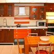 Orange kitchen — Stockfoto
