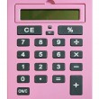 Pink calculator - Stock Photo