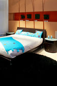 Terracotta bedroom — Stock Photo