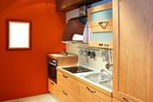 Kuchnia terakota poziome — Zdjęcie stockowe