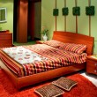 Stock Photo: Green bedroom