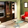 Stock Photo: Green living room