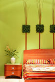 Bedroom floral detail — Stock Photo