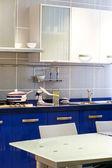 Blue kitchen vertical — Stock fotografie