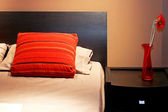 Brown bed detail — Stock Photo