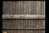Dark wood fence — Stock Photo