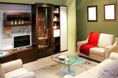 Grüne Wohnzimmer — Stockfoto