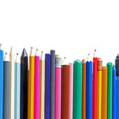 Pencils in row — Stock Photo