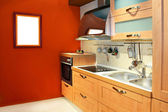 テラコッタ キッチン — ストック写真