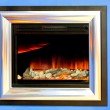 Stock Photo: Fireplace electronic