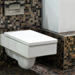Stock Photo: Toilet and tiles 2