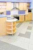 Vertikale blaue küche — Stockfoto