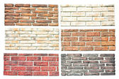 Bricks samples — Stock Photo