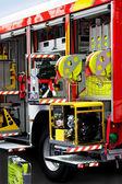 Fire engine unpack — Stock Photo