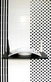 Geometric bathroom — Stock Photo