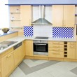 Blue kitchen — Stockfoto