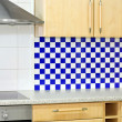 Blue kitchen counter — Stock Photo