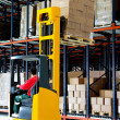 Forklifter pallet — Stock Photo