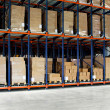 Warehouse pallets — 图库照片