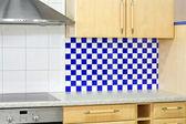 Contatore di cucina blu — Foto Stock