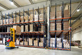 Forklifter warehouse — Foto de Stock