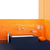 Orange Badezimmer — Stockfoto