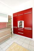 红色烤箱角度 — 图库照片