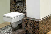 Toilet and tiles — Stock Photo