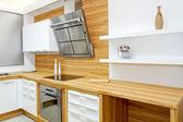 Wooden kitchen horizontal — Stock Photo