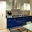Blue kitchen counter - Foto de Stock