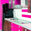 Kitchen angle pink — Stock Photo