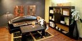 Africká obývací pokoj — Stock fotografie