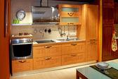 Apartment kitchen wide — Stock Photo