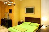 Vert de la chambre à coucher — Photo