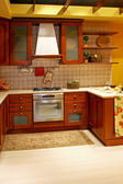 Country wooden kitchen — Stock Photo