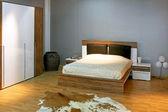 灰色卧室 2 — 图库照片